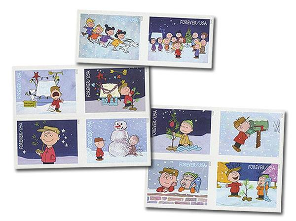 2015 First-Class Forever Stamp - Imperforate A Charlie Brown Christmas