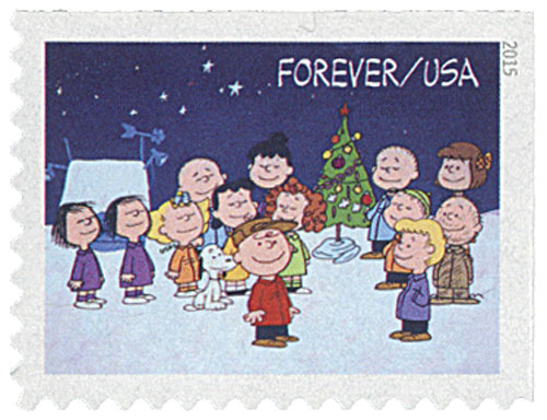 U.S. #5024 pictures a scene from A Charlie Brown Christmas.