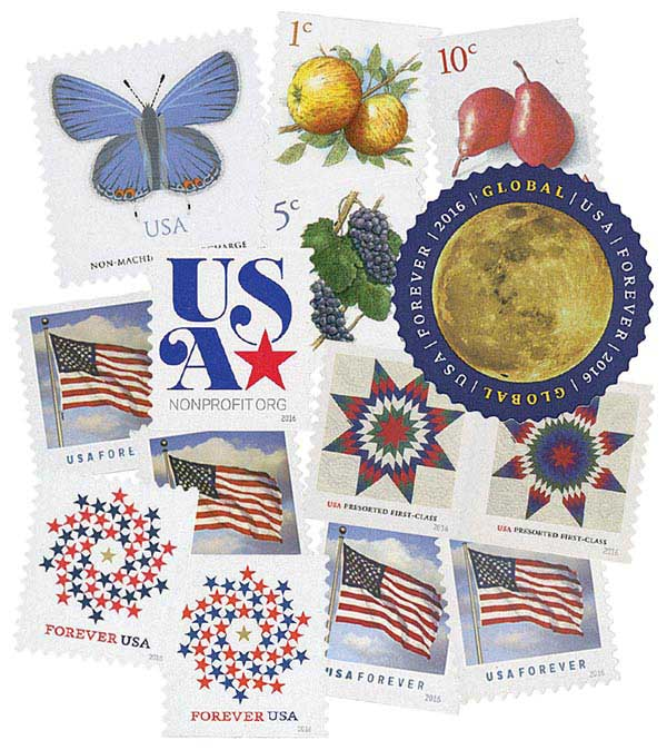 2016 Regular Issues, collection of 14 stamps