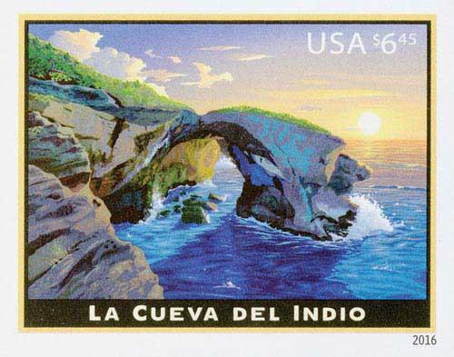 2016 $6.45 Imperf La Cueva del Indio