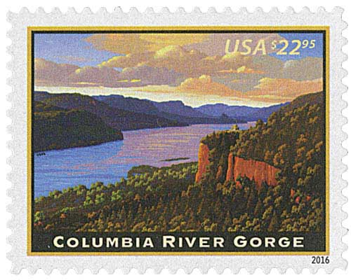 2016 $22.95 Columbia River Gorge, Express Mail