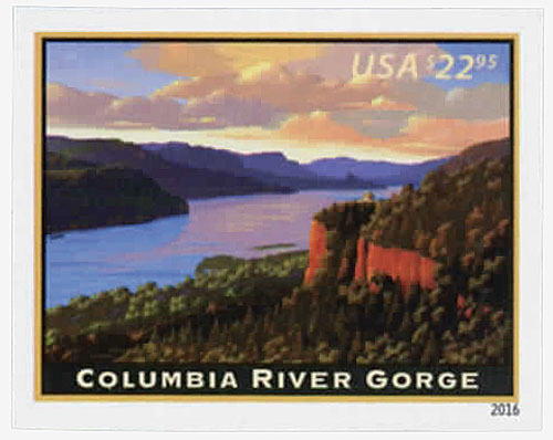 2016 $22.95 Imperf Columbia River Gorge