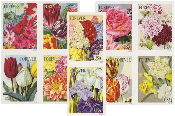 2016 First-Class Forever Stamp - Imperforate Botanical Art