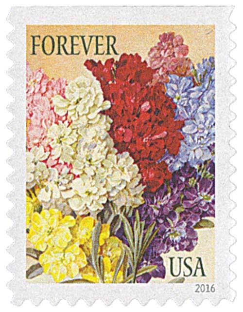 2016 First-Class Forever Stamp - Botanical Art: Stocks