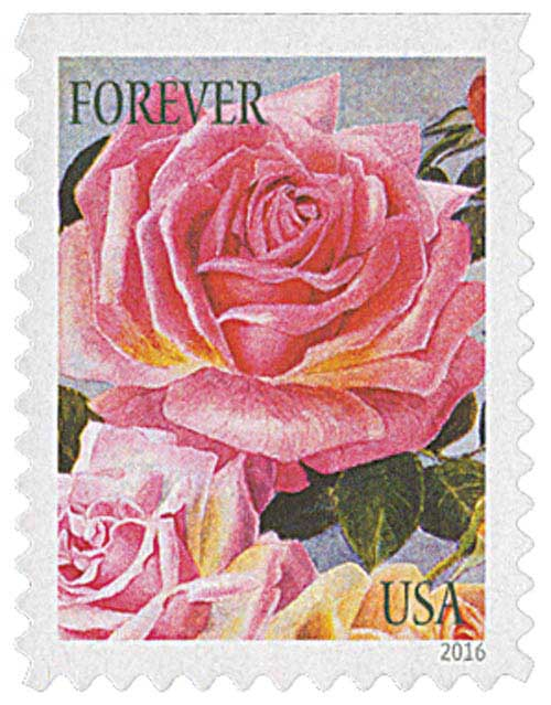 2016 First-Class Forever Stamp - Botanical Art: Roses