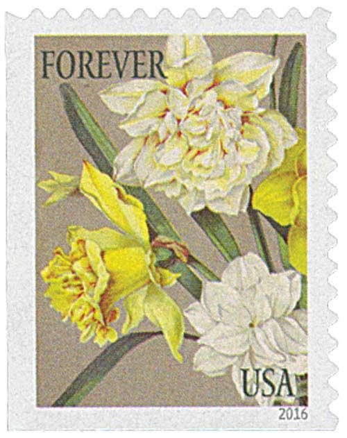 2016 First-Class Forever Stamp - Botanical Art: Jonquils