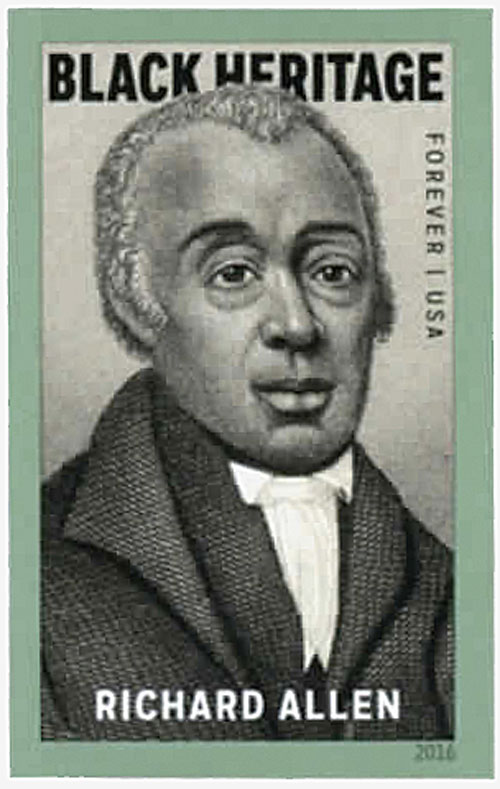 2016 First-Class Forever Stamp - Imperforate Black Heritage: Richard Allen