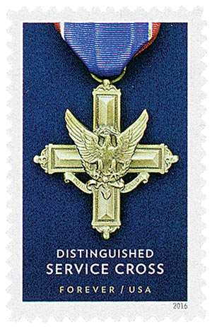 2016 First-Class Forever Stamp - Distinguished Service Cross Medals: Distinguished Service Cross