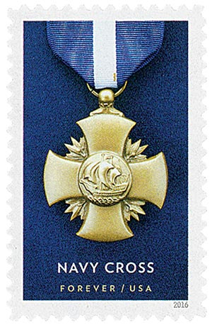 2016 First-Class Forever Stamp - Distinguished Service Cross Medals: Navy Cross