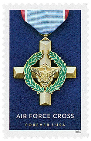 2016 First-Class Forever Stamp - Distinguished Service Cross Medals: Air Force Cross