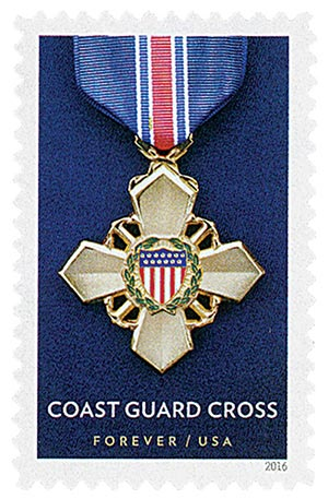 2016 First-Class Forever Stamp - Distinguished Service Cross Medals: Coast Guard Cross