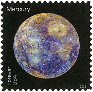 2016 First-Class Forever Stamp - Views of Our Planets: Mercury