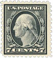 1917 7c Washington, black