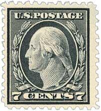 1917 7c Washington, black