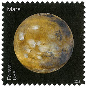 2016 First-Class Forever Stamp - Views of Our Planets: Mars