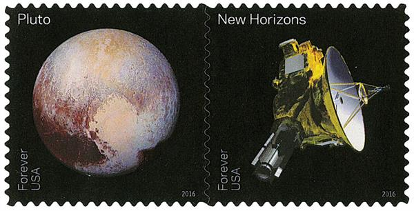2016 First-Class Forever Stamp - Pluto Explored!