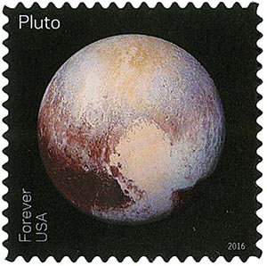 2016 First-Class Forever Stamp - Pluto Explored!: Pluto