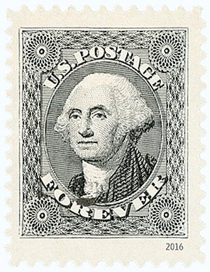 2016 First-Class Forever Stamp - Classics Forever: 1851 12c George Washington