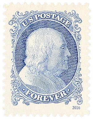 2016 First-Class Forever Stamp - Classics Forever: 1851 1c Benjamin Franklin