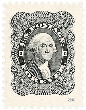 2016 First-Class Forever Stamp - Classics Forever: 1860 24c George Washington
