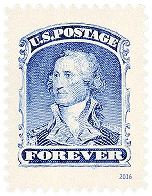 2016 First-Class Forever Stamp - Classics Forever: 1860 90c George Washington