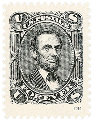 2016 First-Class Forever Stamp - Classics Forever: 1866 15c Abraham Lincoln