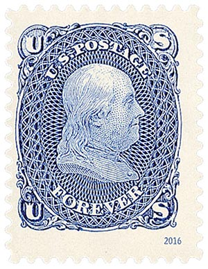 2016 First-Class Forever Stamp - Classics Forever: 1861 1c Benjamin Franklin