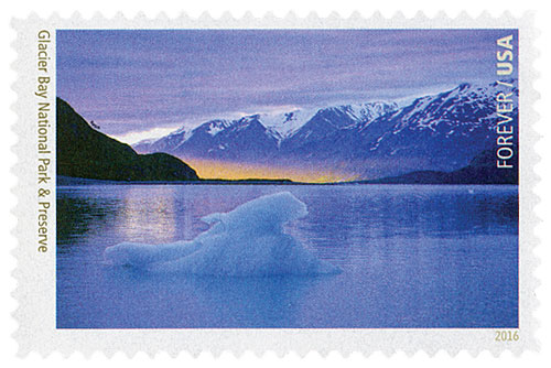 2016 First-Class Forever Stamp - National Parks Centennial: Glacier Bay National Park and Preserve
