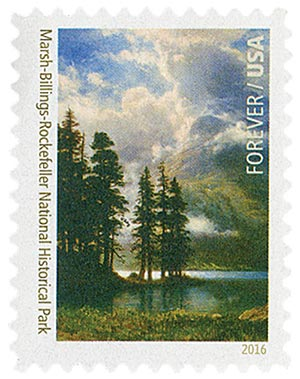 2016 First-Class Forever Stamp - National Parks Centennial: Marsh-Billings-Rockefeller National Historical Park