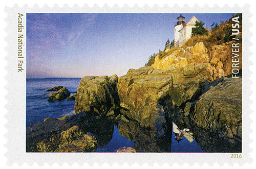 2016 First-Class Forever Stamp - National Parks Centennial: Acadia National Park