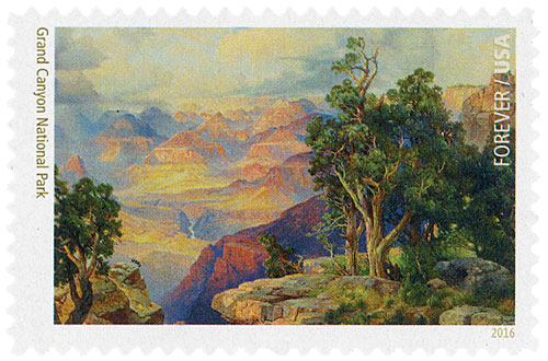 2016 First-Class Forever Stamp - National Parks Centennial: Grand Canyon National Park