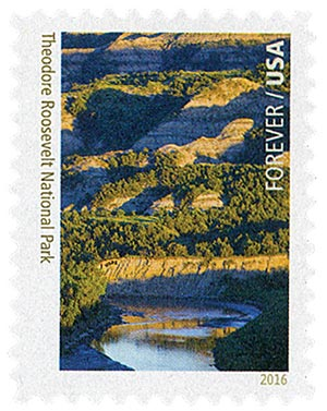 2016 First-Class Forever Stamp - National Parks Centennial: Theodore Roosevelt National Park