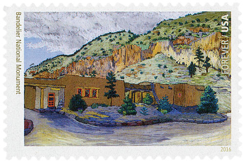 2016 First-Class Forever Stamp - National Parks Centennial: Bandelier National Monument
