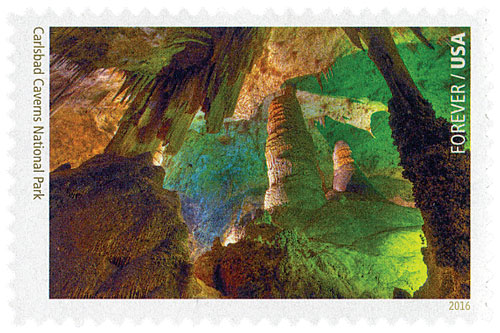 2016 First-Class Forever Stamp - National Parks Centennial: Carlsbad Caverns National Park