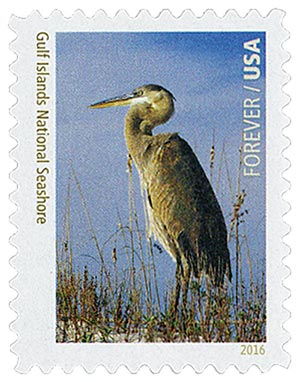 2016 First-Class Forever Stamp - National Parks Centennial: Gulf Island National Seashore