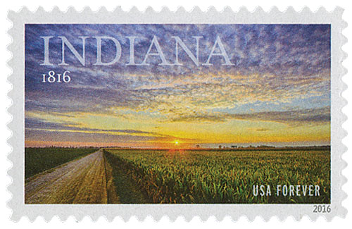 2016 First-Class Forever Stamp - Statehood: Indiana Bicentennial