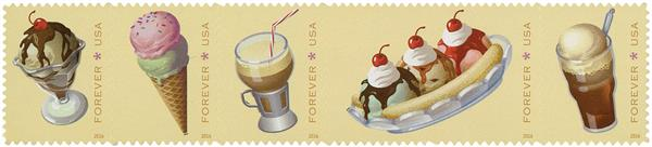 2016 First-Class Forever Stamp - Soda Fountain Favorites