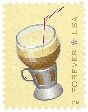 2016 First-Class Forever Stamp - Soda Fountain Favorites: Egg Cream