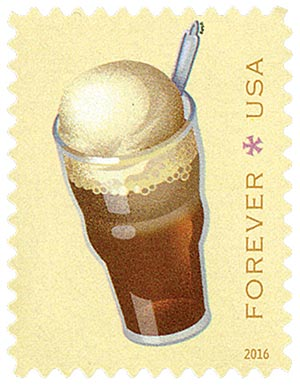 2016 First-Class Forever Stamp - Soda Fountain Favorites: Root Beer Float