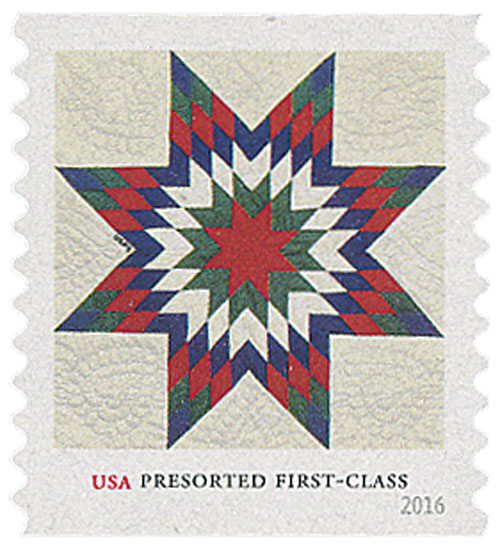 2016 25c Star Quilts: Heart Quilting