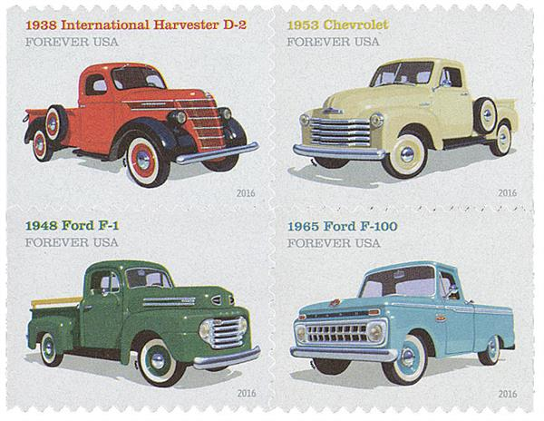 2016 First-Class Forever Stamp - Pickup Trucks