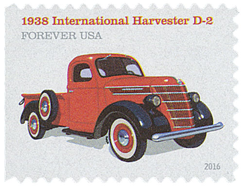 2016 First-Class Forever Stamp - Pickup Trucks: 1938 International Harvester D-2