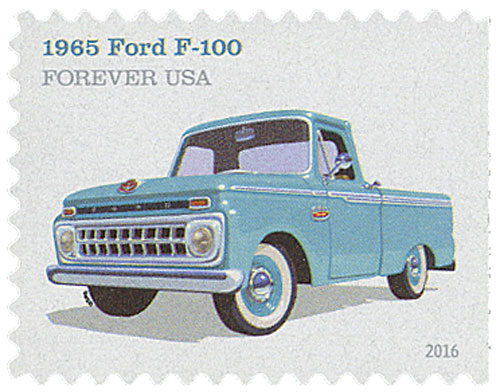 2016 First-Class Forever Stamp - Pickup Trucks: 1965 Ford F-100