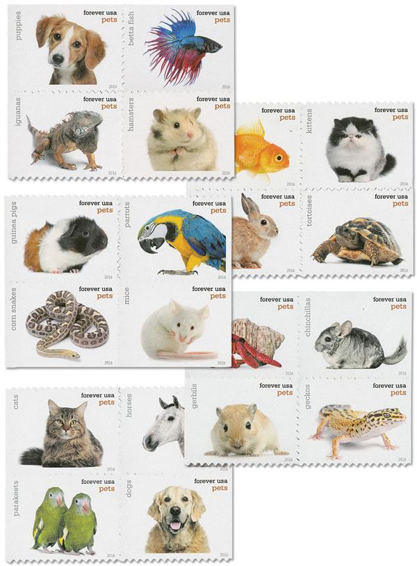 2016 First-Class Forever Stamp - Pets