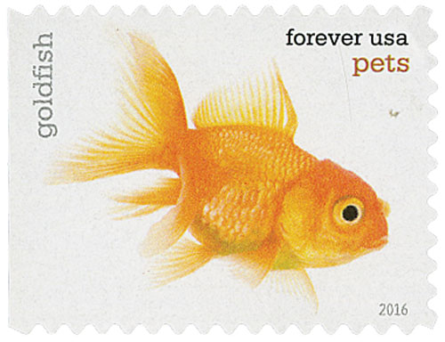 2016 First-Class Forever Stamp - Pets: Goldfish