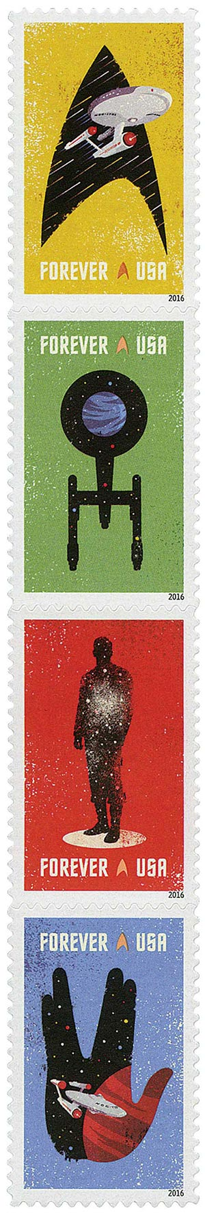 2016 First-Class Forever Stamp - Star Trek