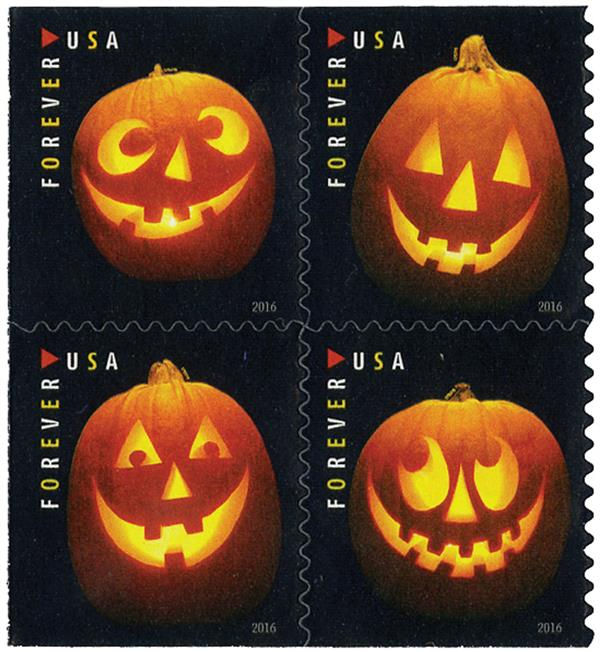 2016 First-Class Forever Stamp - Jack-O'-Lanterns