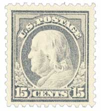 1917 15c Franklin, gray