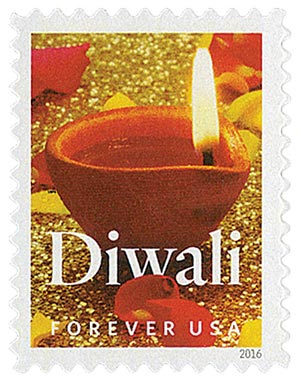 2016 First-Class Forever Stamp - Diwali