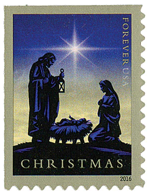 2016 First-Class Forever Stamp - Traditional Christmas: Nativity